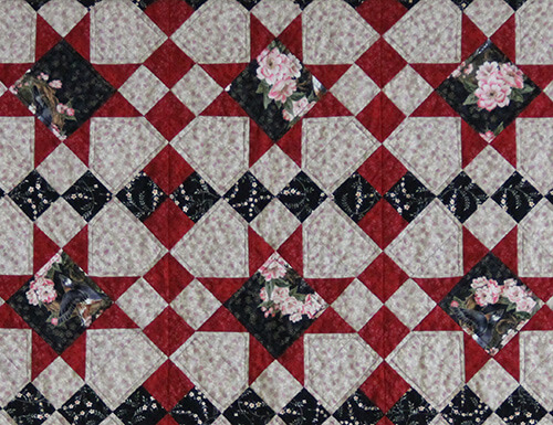A hand designed quilt pattern